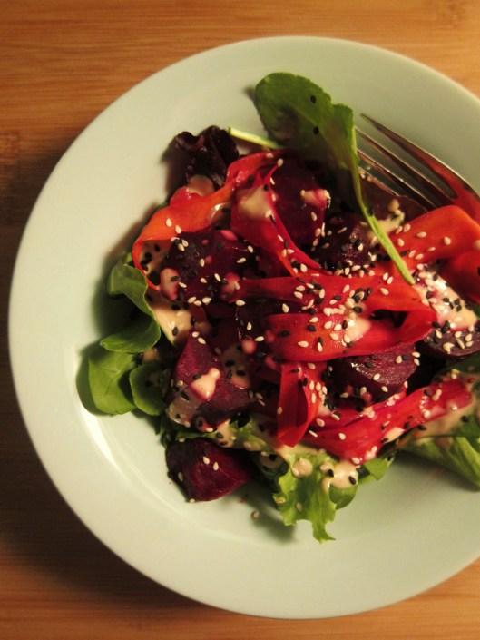 Carrot, Beet & Tahini Salad