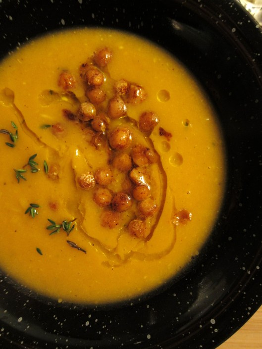 Sweet potato soup - detail