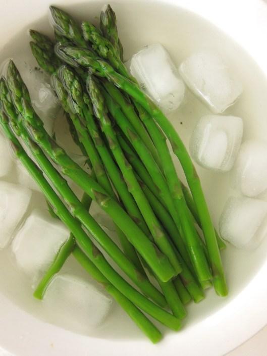 chilling asparagus