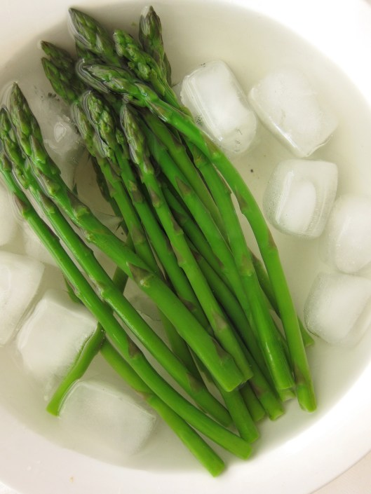 chilling asparagus