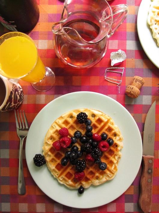 waffle - berries