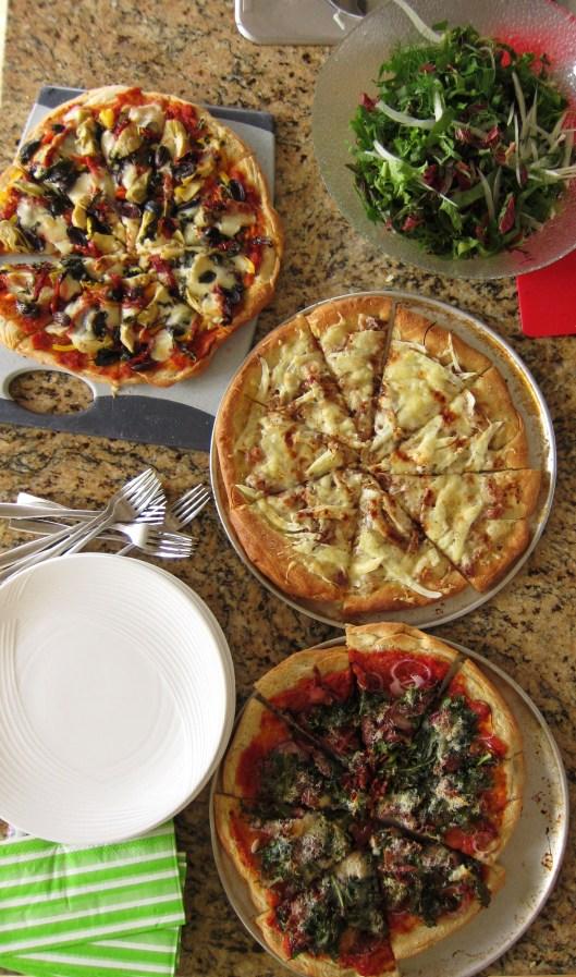 pizza + salad