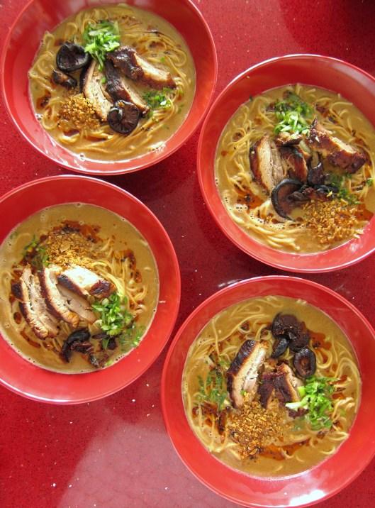 bowls of ramen
