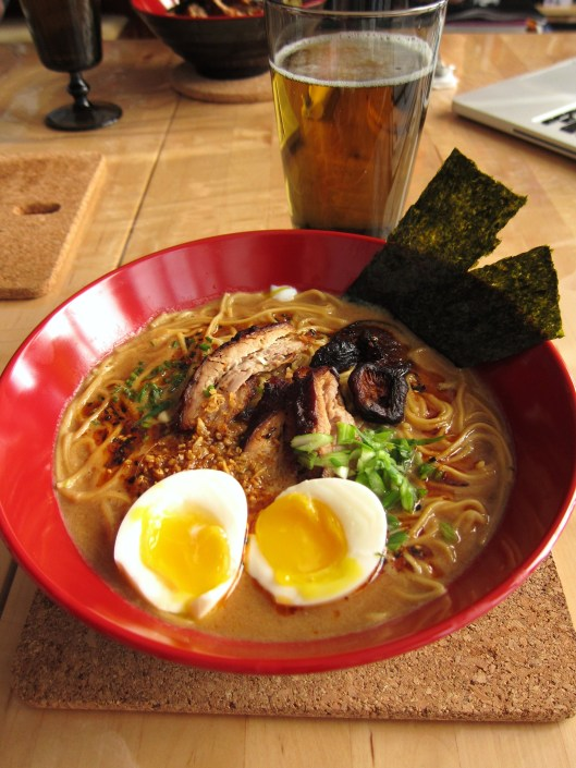bowl of ramen + Sapporo