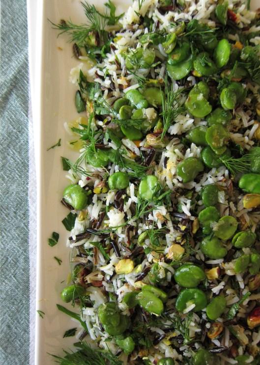 fava rice salad