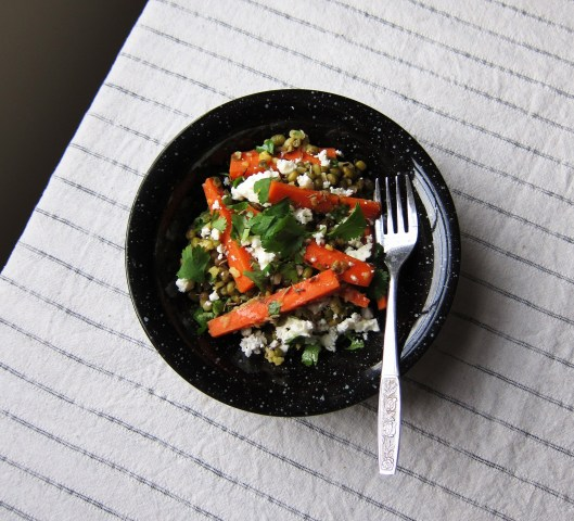 Mung Bean and Carrot Salad