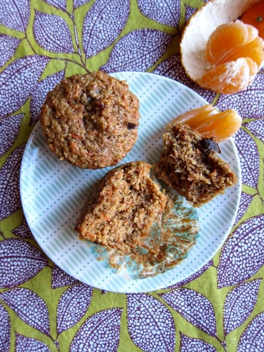 Multigrain Carrot-Date Muffins