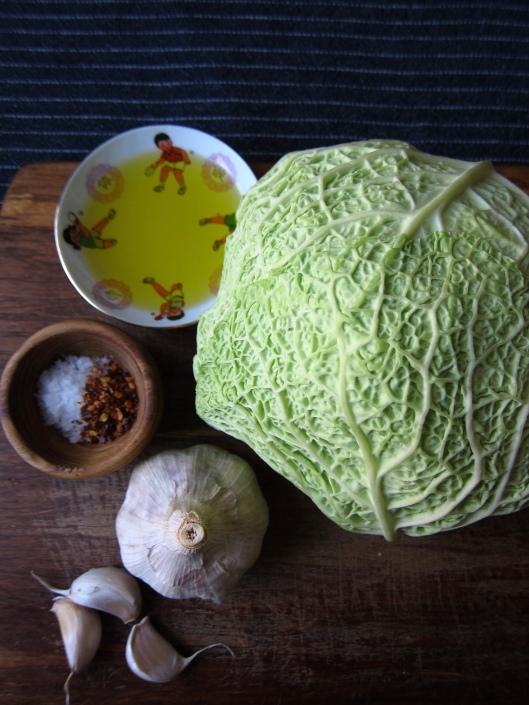 Garlic-Braised Cabbage