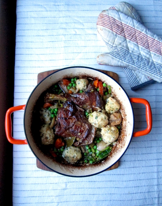 Braised Lamb with Dumplings and Date-Mint Chutney