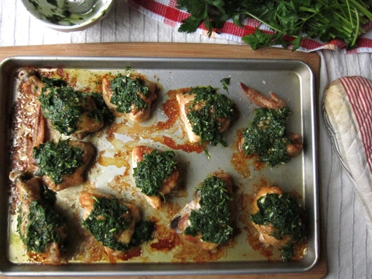 Chicken Smothered in Herbs // © julia chews the fat